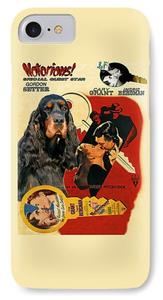 Gordon Setter Art Canvas Print - Notorious Movie Poster IPhone Case by Sandra Sij