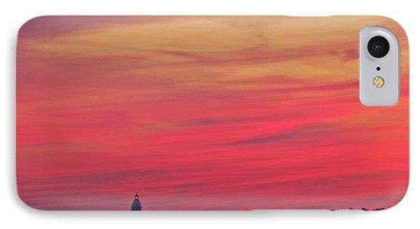 Gorgeous Connectiut Lighhouse Sunset IPhone Case