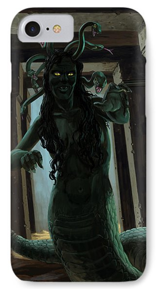 Gorgon Medusa IPhone Case by Martin Davey