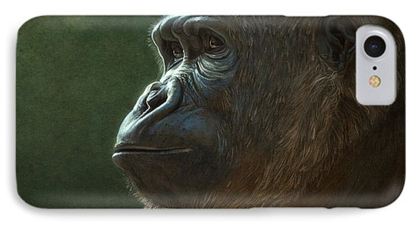 Gorilla IPhone Case by Aaron Blaise