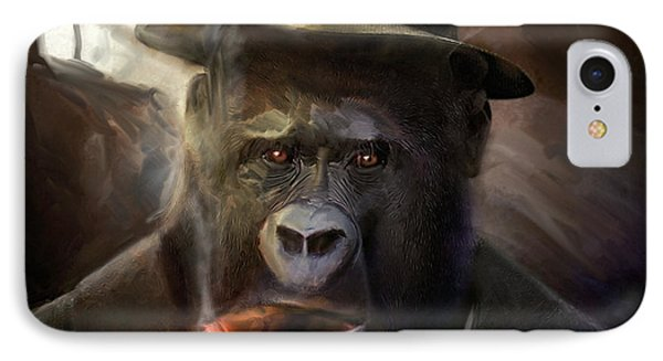 Gorilla Gangster IPhone Case by Gustav Boye