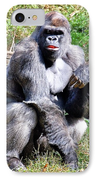 Gorilla Phone Case by Kathleen K Parker