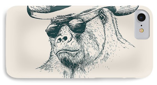 T Shirts iPhone 7 Case - Gorilla Like A Texas Ranger Dressed In by Dimonika