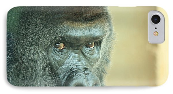 Gorilla's Look Phone Case by Adnan Elkamash