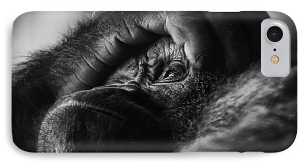 Gorilla Portrait IPhone Case by Chris Boulton