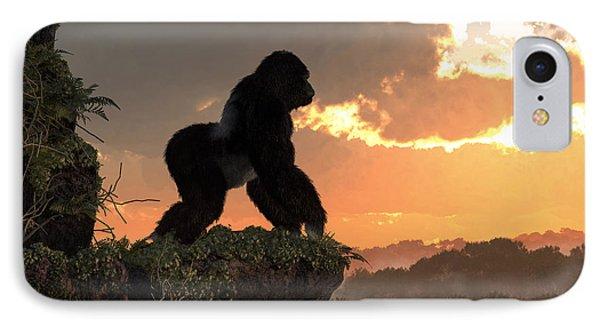 Gorilla Sunset IPhone Case by Daniel Eskridge