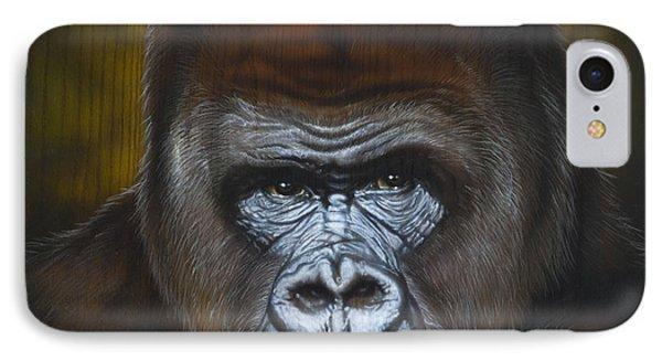 Gorilla IPhone Case by Timothy Scoggins