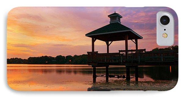 Gorton Pond Sunset Warwick Rhode Island IPhone Case by Lourry Legarde