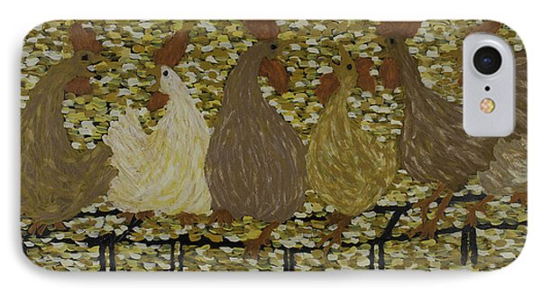 Gossiping Chickens IPhone Case by Kurt Olson