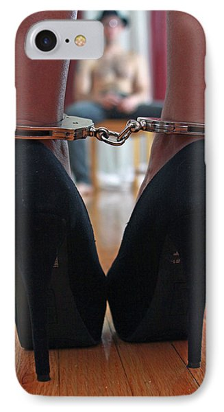IPhone Case featuring the pyrography Got Cuffs by Shoal Hollingsworth