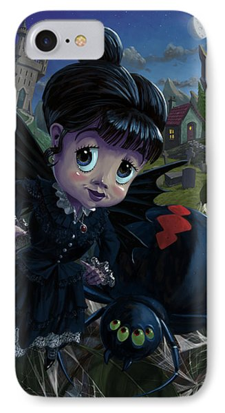 Goth Girl Fairy With Spider Widow IPhone Case by Martin Davey