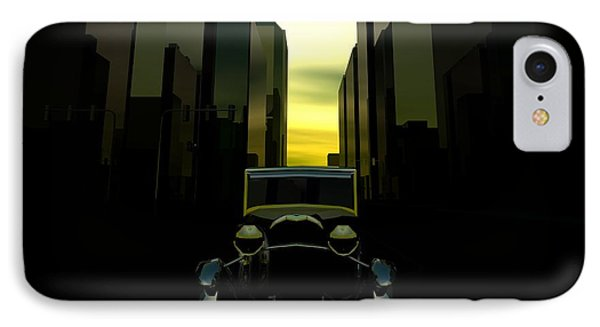IPhone Case featuring the digital art Gotham City by John Pangia