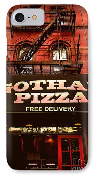 Gotham Pizza IPhone Case by Miriam Danar