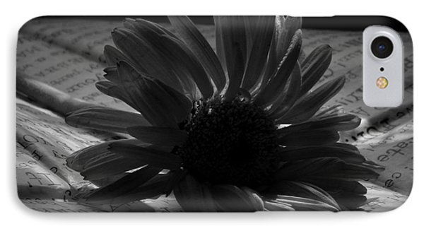 Gothic Birthday Flower Bw Phone Case by Chalet Roome-Rigdon