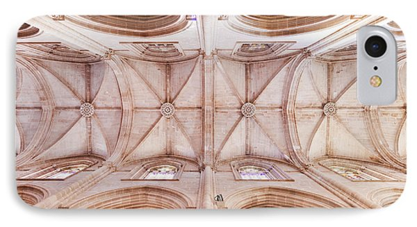 Gothic Ceiling Of The Batalha Monastery Church IPhone Case by Jose Elias - Sofia Pereira