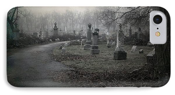 Spooky Graveyard Gothic Path IPhone Case by Gothicrow Images