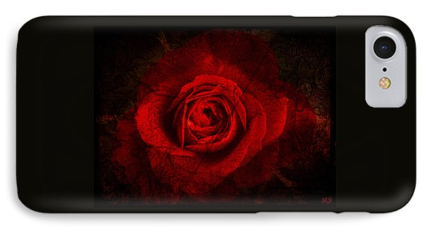 Gothic Red Rose IPhone Case by Absinthe Art By Michelle LeAnn Scott