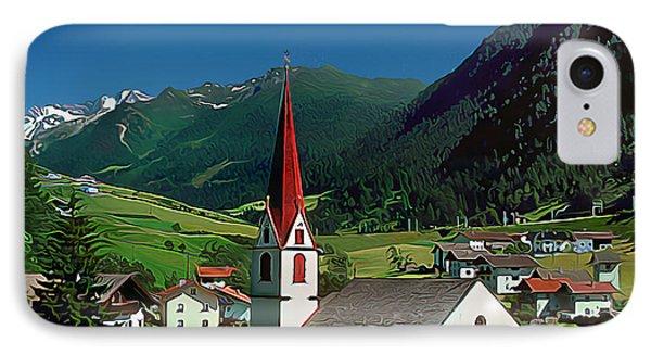 Gothic Spikes In An Austrian Village IPhone Case by Wernher Krutein