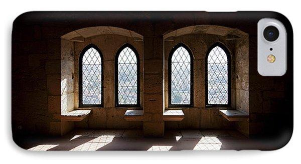 Gothic Windows Of The Royal Residence In The Leiria Castle Phone Case by Jose Elias - Sofia Pereira