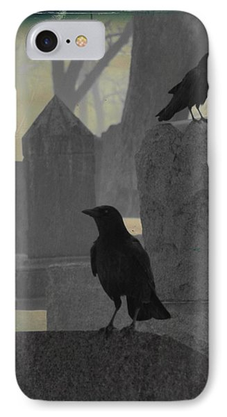 Gothic Winter Blackbirds IPhone Case by Gothicrow Images