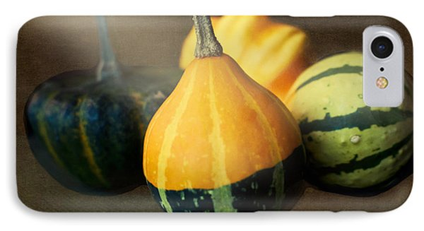IPhone Case featuring the photograph Gourds Aglow by Maria Janicki