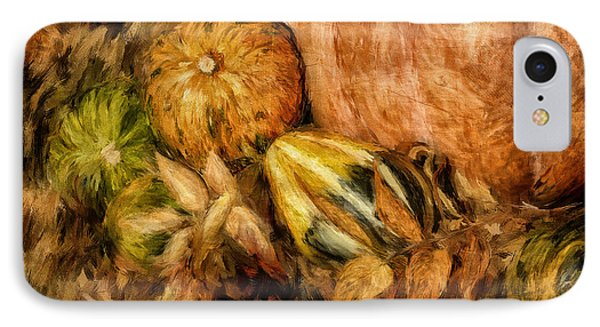 Gourds And Leaves Of Autumn IPhone Case by Lois Bryan