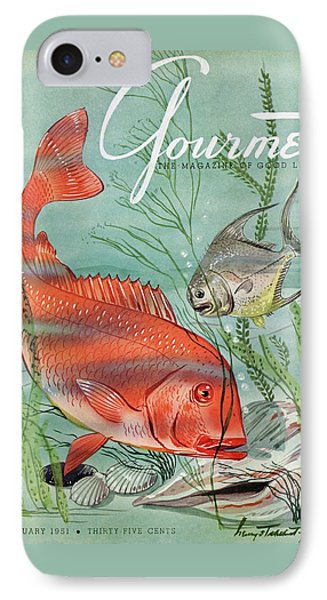 Gourmet Cover Featuring A Snapper And Pompano IPhone Case by Henry Stahlhut