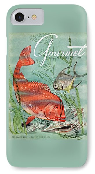 Gourmet Cover Featuring A Snapper And Pompano IPhone 7 Case by Henry Stahlhut