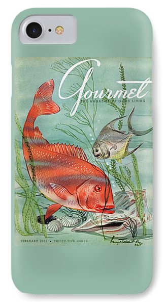 Gourmet Cover Featuring A Snapper And Pompano IPhone Case