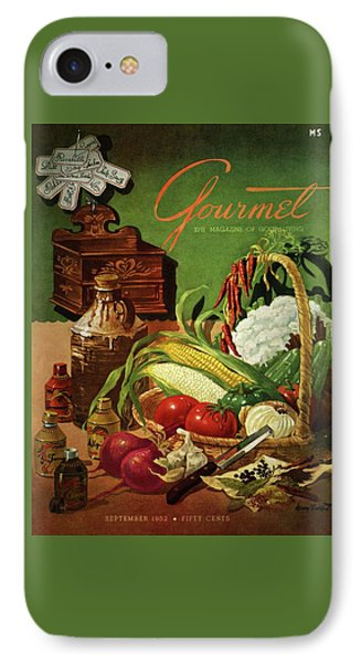 Gourmet Cover Featuring A Variety Of Vegetables IPhone Case by Henry Stahlhut