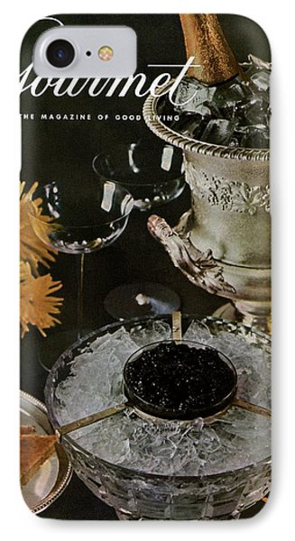 Gourmet Cover Featuring A Wine Cooler IPhone Case by Arthur Palmer