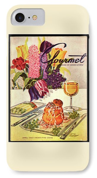 Gourmet Cover Featuring Sweetbread And Asparagus IPhone Case by Henry Stahlhut