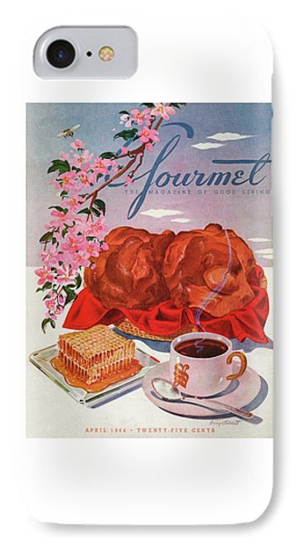Gourmet Cover Illustration Of A Basket Of Popovers IPhone Case
