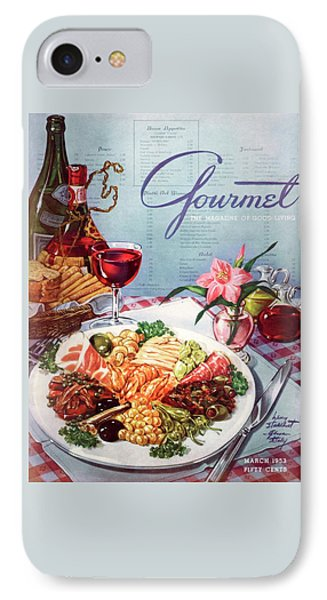 Gourmet Cover Illustration Of A Plate Of Antipasto IPhone Case by Henry Stahlhut
