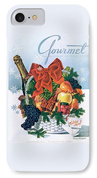 Gourmet Cover Illustration Of Holiday Fruit Basket IPhone Case by Henry Stahlhut