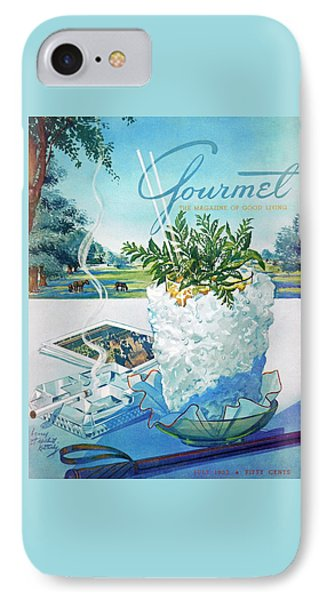 Gourmet Cover Illustration Of Mint Julep Packed IPhone Case by Henry Stahlhut