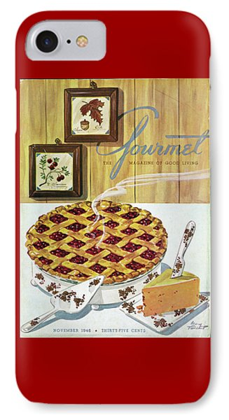 Gourmet Cover Of Cranberry Pie IPhone Case by Henry Stahlhut
