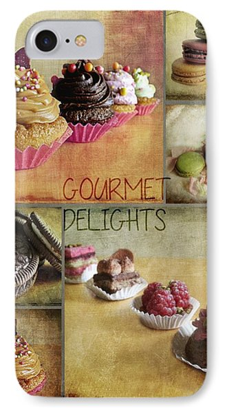 Gourmet Delights - Collage IPhone Case by Barbara Orenya