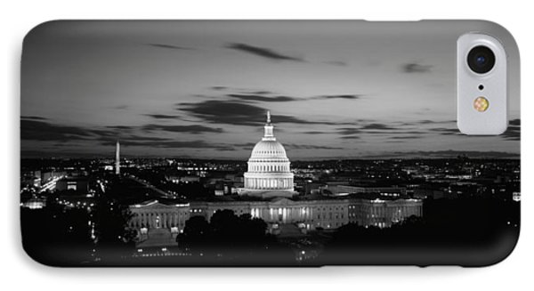Government Building Lit Up At Night, Us IPhone Case by Panoramic Images