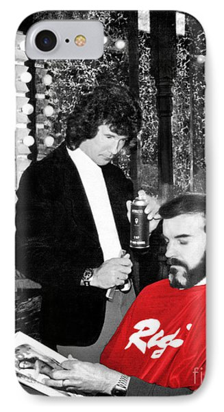 IPhone Case featuring the photograph Governor Dan Evans Haircut by Merle Junk