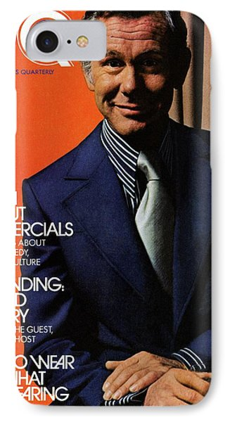 Gq Cover Of Johnny Carson Wearing Suit IPhone Case by Bruce Bacon