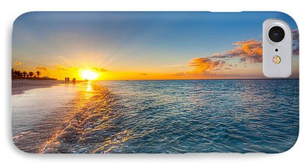 Grace Bay Beach Sunset Phone Case by Jo Ann Snover
