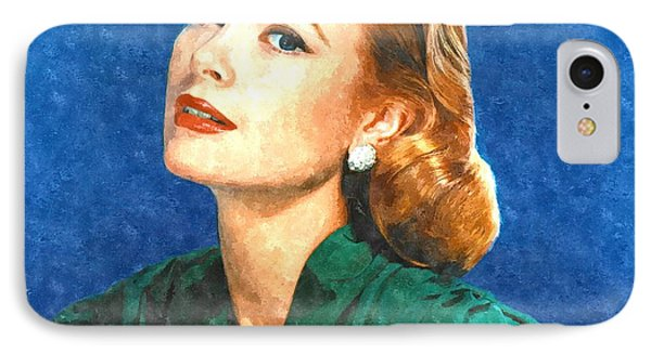 Grace Kelly Painting IPhone 7 Case by Gianfranco Weiss