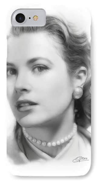 Grace Kelly iPhone 7 Case - Grace Kelly Pencil by Steve K