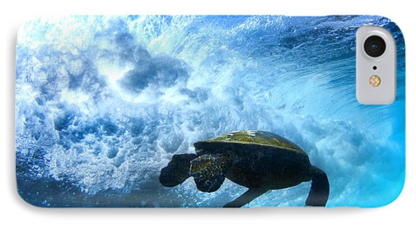 Grace Under The Waves IPhone Case by Sean Davey