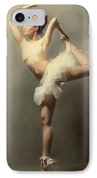 Graceful En Pointe Ballerina IPhone Case by Georgiana Romanovna