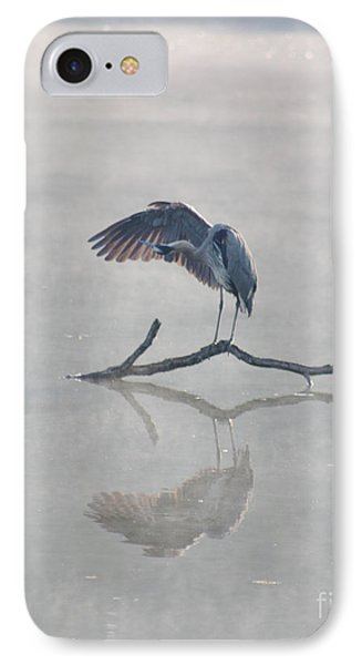 IPhone Case featuring the photograph Graceful Heron by Anita Oakley