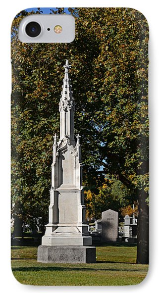 Graceland Cemetery - Garden Of The Dead IPhone Case by Christine Till