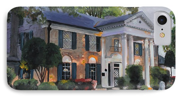 Graceland Home Of Elvis IPhone Case by Cecilia Brendel