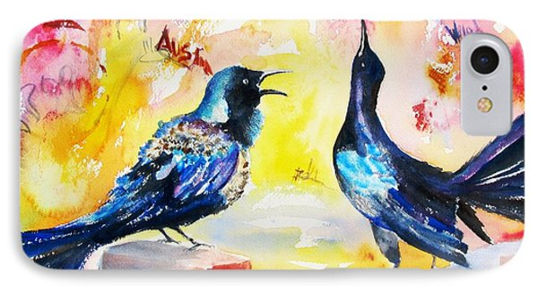 Grackles And Graffiti  IPhone Case by Carlin Blahnik